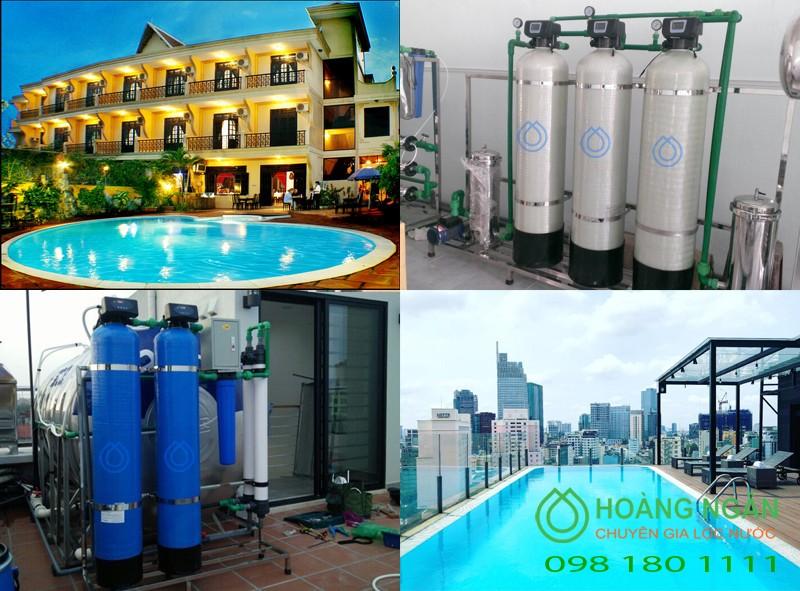 Hệ thống xử lý nước lọc thô lọc tổng cho khách sạn
