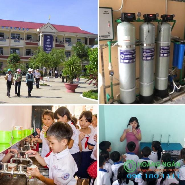 Hệ thống xử lý nước lọc thô, lọc tổng cho trường học