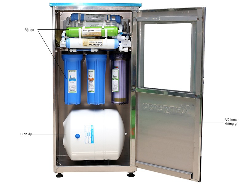 Máy lọc nước kangaroo 8 lõi lọc KG118 có tủ