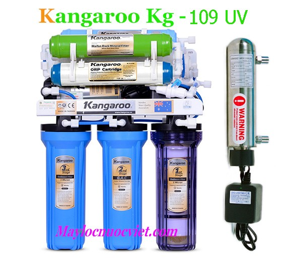Máy lọc nước Kangaroo 9 Lõi Lọc KG109 đèn uv