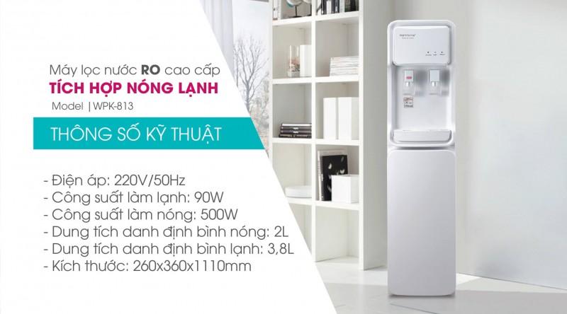 Máy lọc nước Ro tích hợp nóng lạnh WPK-813